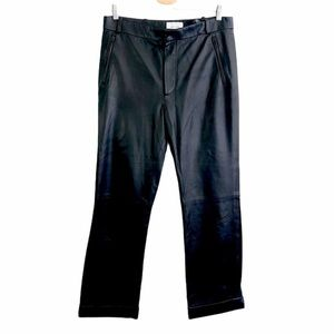 & Other Stories Cuffed Leather Trousers 10